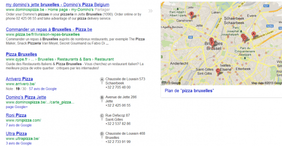 global search- pizza bruxelles